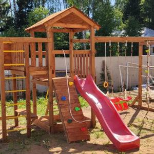 Детская площадка Лео Макси окрашенная фото