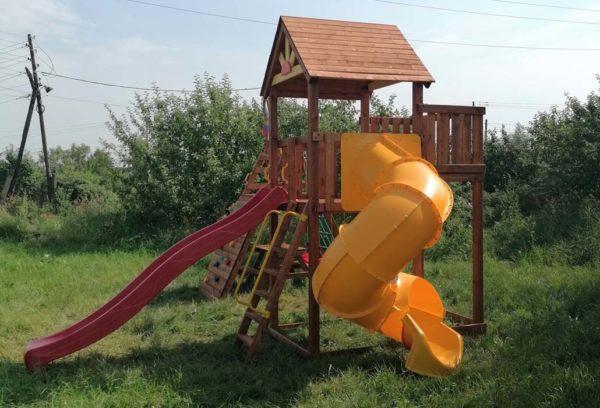 Детский городок Выше Всех Победа со спиральной горкой-2