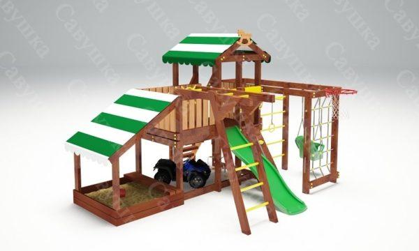 Детский игровой комплекс для дачи САВУШКА BABY PLAY – 13-1