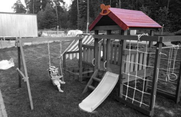Крыша деревянная для серии Савушка Baby Play 1000
