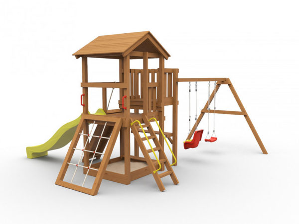 Детская игровая площадка Барни окрашенная