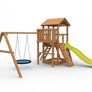 Детская игровая площадка Барни с гнездом окрашенная