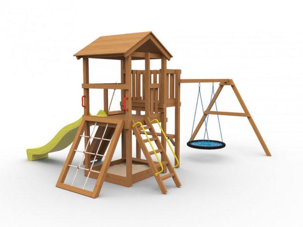 Детская игровая площадка Барни с гнездом окрашенная1