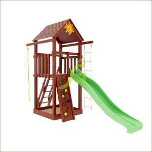 Детская площадка IgraGrad Панда Фани Tower скалодром 300