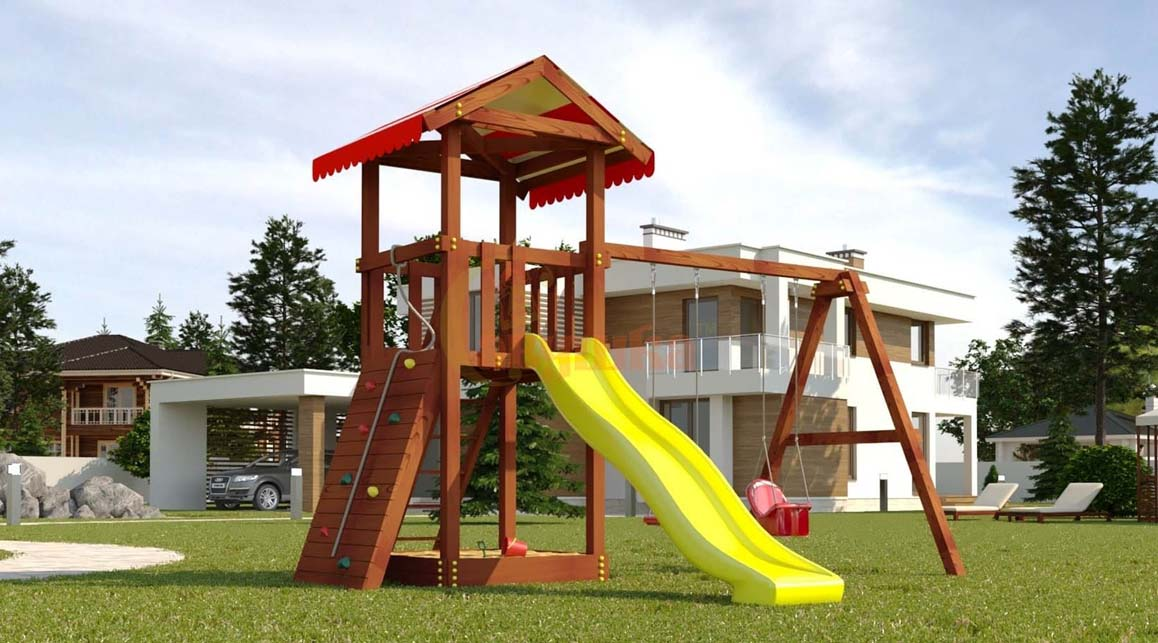 Детская площадка Савушка Classiс домик с качелями