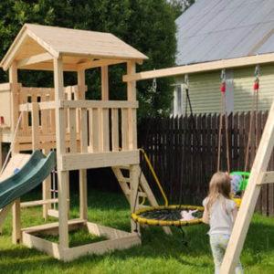 Детская площадка Лео качели-гнездо баскет 700