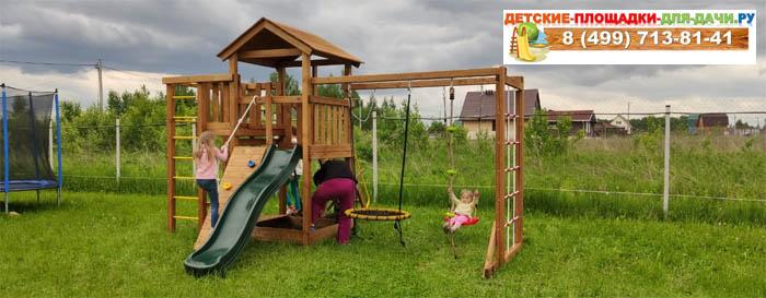 Детская площадка Лео Макси окрашенная с гнездом сборка