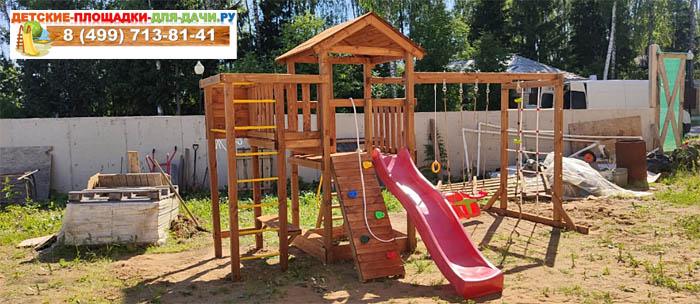 Детская площадка Лео Макси окрашенная сборка