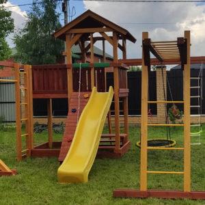 Детская площадка Савушка 16 качели гнездо1