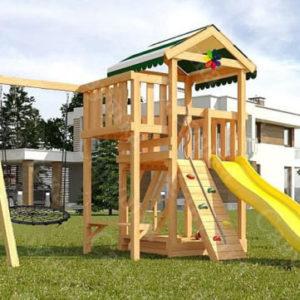 Детская площадка Савушка Мастер 1 + качели-гнездо