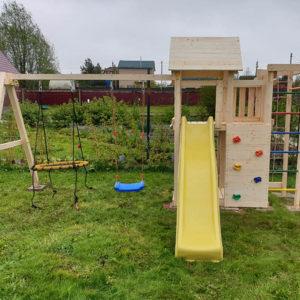 Детская площадка Савушка Мастер 10 + качели-гнездо 0.8м