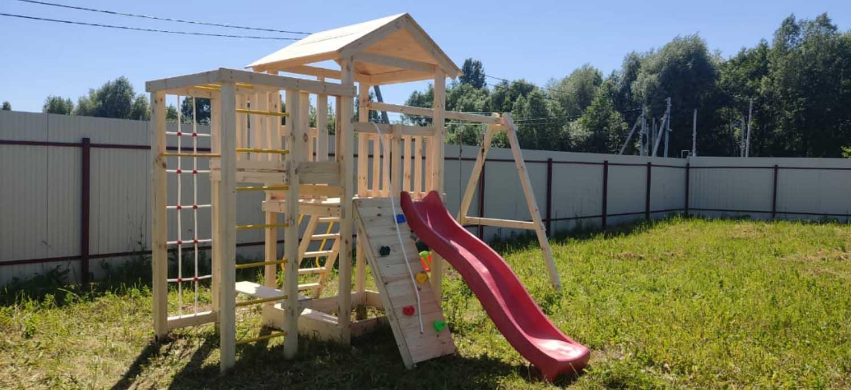 Детские площадки для дачи своими руками 1500
