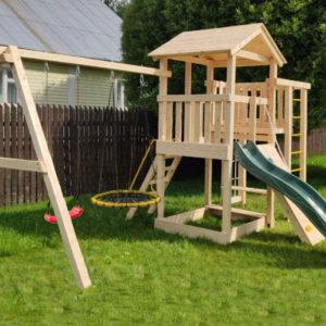 детская площадка Лео (качели-гнездо 80, качели-лодочка)