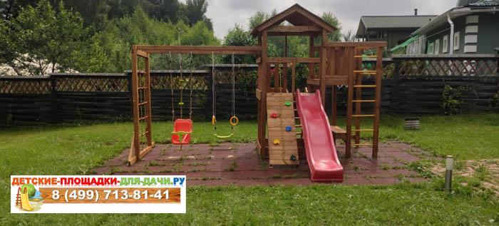 Детская площадка Лео макси окрашенная-сборка1