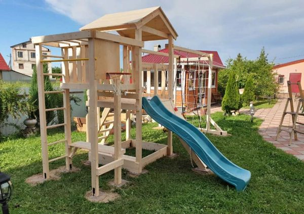 Детская площадка Савушка Мастер 4 качели гнездо 80-1