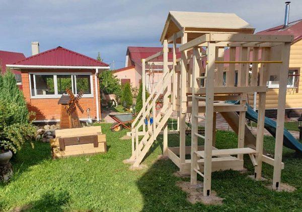Детская площадка Савушка Мастер 4 качели гнездо 80-2