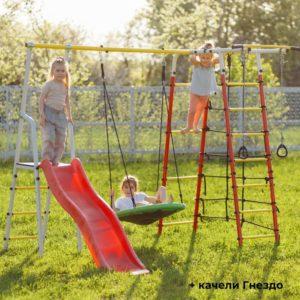 Детский спортивный комплекс для дачи ROMANA Богатырь качели-гнездо