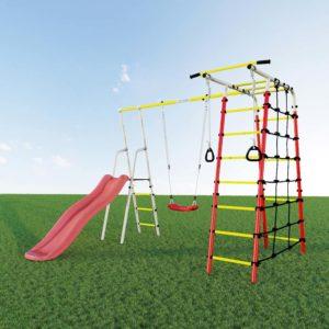 Детский спортивный комплекс для дачи ROMANA Богатырь качели пластиковые
