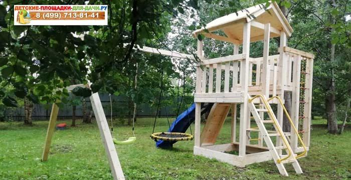 Детская площадка Лео + качели гнездо 700