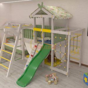 Игровой комплекс Савушка Baby 4 оливковый
