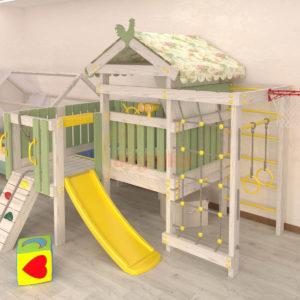 Игровой комплекс Савушка Baby 7-1 оливковый