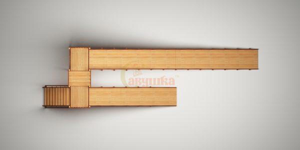Зимняя горка Савушка Зима Wood-9-4
