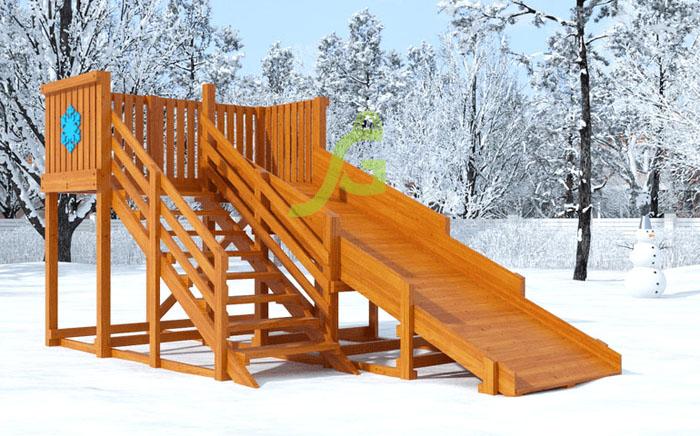 Деревянная зимняя горка Snow Fox скат 4 м-7