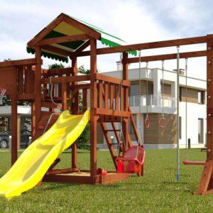 Детская площадка Савушка Мастер 4 (Махагон)