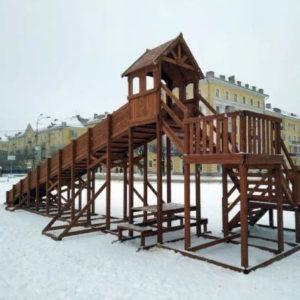Зимние деревянные горки Выше Всех