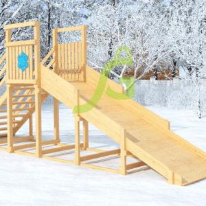 Зимняя горка Снежинка, скат 4 м мод2