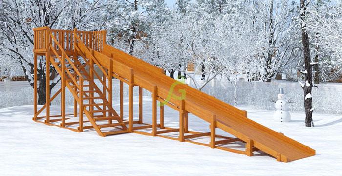 Зимняя горка Snow Fox, скат 10 м-700